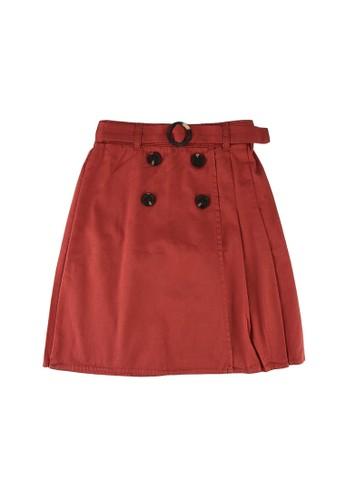LC Waikiki pink Girl's Gabardine Skirt 91BD8KA1B3C45EGS_1