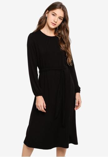 GAP black Tie Waist Midi Dress 75283AA3728FABGS_1