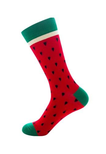 Kings Collection red Watermelon Pattern Cozy Socks (EU39-EU45) FF161AA8D4197BGS_1