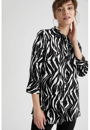 DeFacto black Woman Woven Long Sleeve Tunic 415BFAA43211BBGS_1
