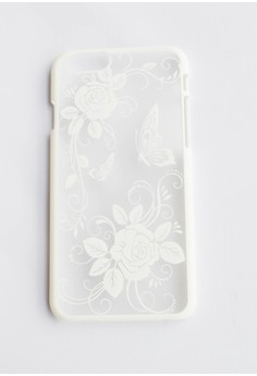 Flowers and Butterfly Hard Transparent Case for iPhone 6/6s