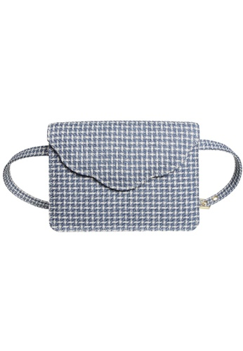 72 SMALLDIVE blue 72 Smalldive Womens Wool Fabric Belt Pouch and Purse in Blue 837ACAC1F0CCA9GS_1