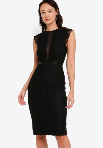 ZALORA OCCASION black Lace Bodycon Pencil Dress 26B60AA52A0874GS_1