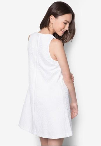 暗紋寬擺連身裙, 服飾, zalora 順豐洋裝