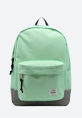 OPTIONS grey and green Options Day Backpack C02A4ACE99112BGS_1