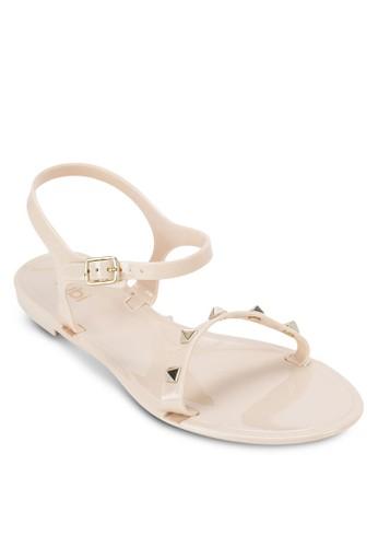 鉚釘果凍涼鞋, 女esprit專櫃鞋, 鞋