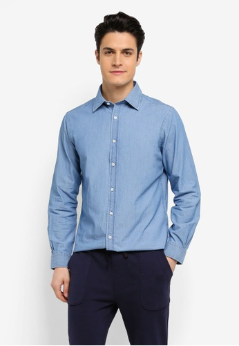 Brooks Brothers 藍色 長袖休閒襯衫 F41D1AA9DDE888GS_1