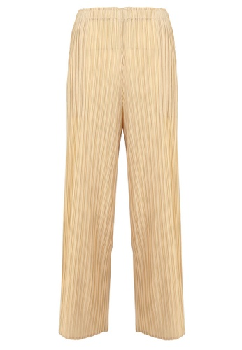 POPLOOK yellow Hetti Pleated Wide Legged Pants 28902AA1FA6A5BGS_1