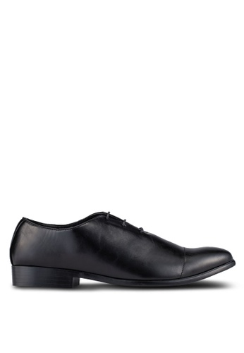 UniqTee black Cap Toe Oxford Dress Shoes UN097SH0S21PMY_1