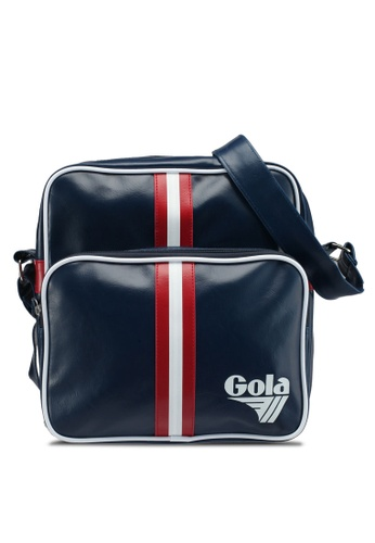 Gola white and red and navy Gable Retro Stripe Bag 202B4ACA0920B4GS_1