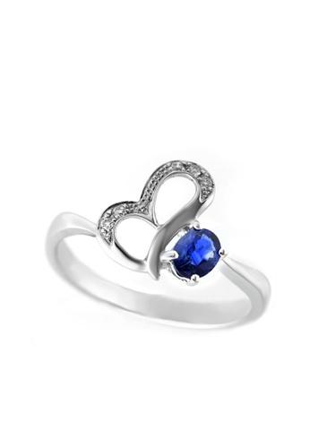 GOLDHEART gold GOLDEHART Ring, Sapphire White Gold 750 (R0644) A6C5AACB592D21GS_1