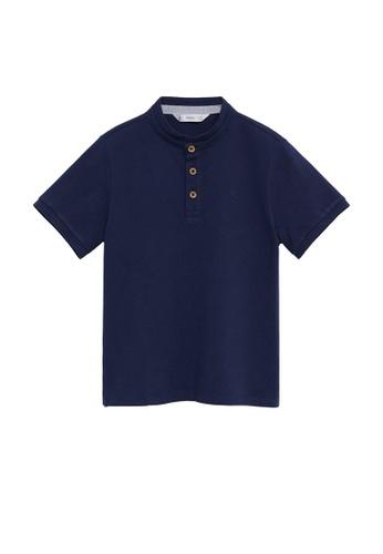 MANGO KIDS blue Mao Collar Polo Shirt 07846KAEC22B9BGS_1