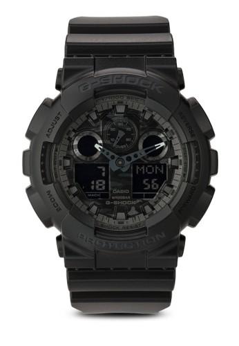 G-Shocesprit 香港k GA-100CF-1ADR 迷彩男士手錶, 錶類, 飾品配件