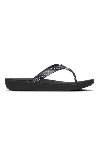 FitFlop black Fitflop Hoopla Toe-Thongs Black / Snake C9FDASHCAF8BA1GS_1