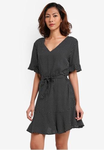 Cotton On black Woven Matina 3/4 Sleeve Dress C240FAADAD2643GS_1