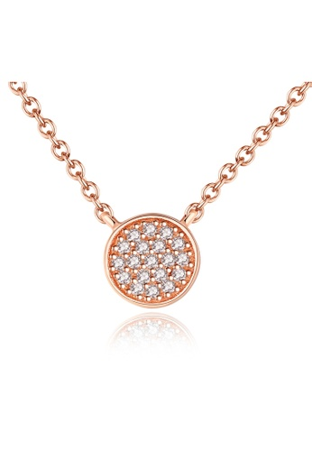 SUNRAIS Premium Silver S925 Rose Gold Fashion Necklace F48AAACBE3A472GS_1