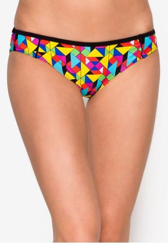 zalora 包包評價彩色幾何印花內褲, 服飾, 比基尼組