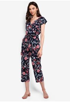 ed3e5f5039d2 Dorothy Perkins multi and navy Navy Folk Floral Jumpsuit 0024DAA1C19EC0GS_1