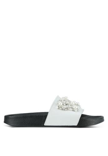 Carvela KG white Leather Sliders CA459SH0SCM1MY_1