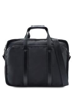 ZALORA Poly Briefcase with Shoulder Strap 黑色