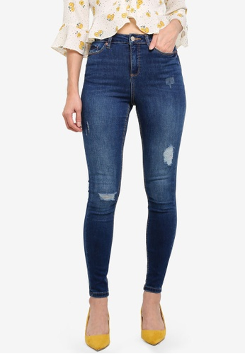 Miss Selfridge blue Vera Double Rip Lizzie Jeans 75F3DAACDC96C4GS_1