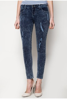Alessandra Low Rise Skinny Slim Distressed Jeans