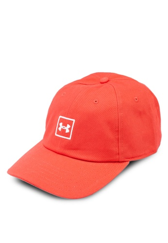 Under Armour red Men's Washed Cotton Cap 85584ACA1E056AGS_1