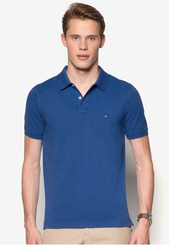 Tommy Hilfiger blue SLIM FIT POLO S/S SF TO861AA58GQFMY_1