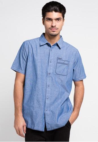 Kickers blue Shirt Man KI071AA0UH3BID_1