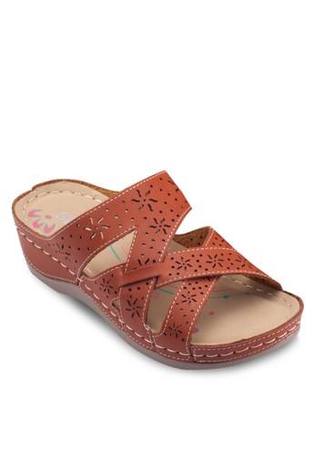 雕花楔形涼鞋, 韓系esprit手錶專櫃時尚, 梳妝