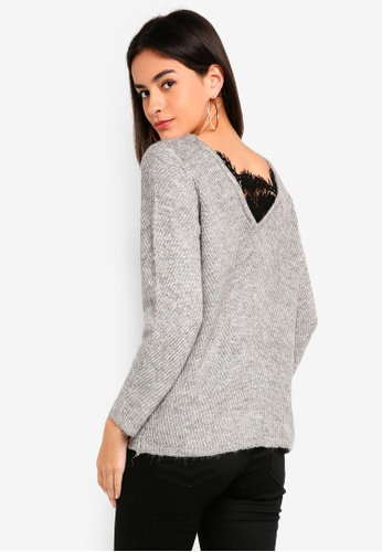ONLY grey Vibe Knit Pullover 383DEAA07C464CGS_1