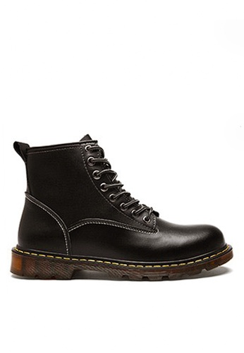 Twenty Eight Shoes black Stylish Leather Mid Boots VMB89027 D8F3ESH1A4CC8DGS_1