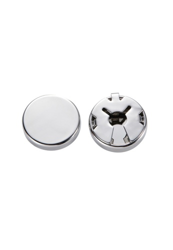 Kings Collection silver Silver Trendy Round Cufflinks (KC20337) 4A1D7ACBC1DD97GS_1