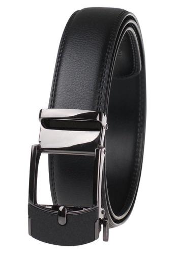 FANYU black Leather Dress Belt With Automatic Buckle belt 34976ACEB45CB2GS_1