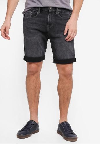 ESPRIT 黑色 Denim Regular Shorts B49AAAA90E0F40GS_1
