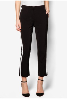 Collection Side Border Striaght Cut Trousers