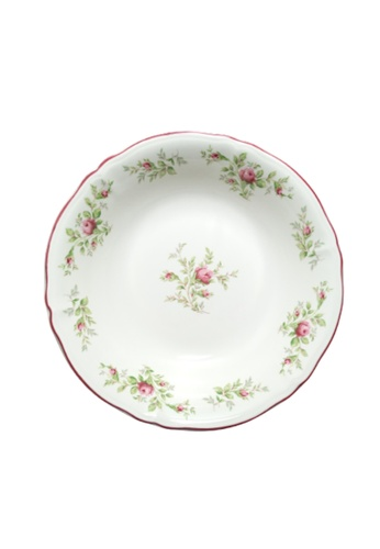 """Claytan Moss Rose With Banding - 9.3"""" Salad Bowl 906C9HL76D7236GS_1"""