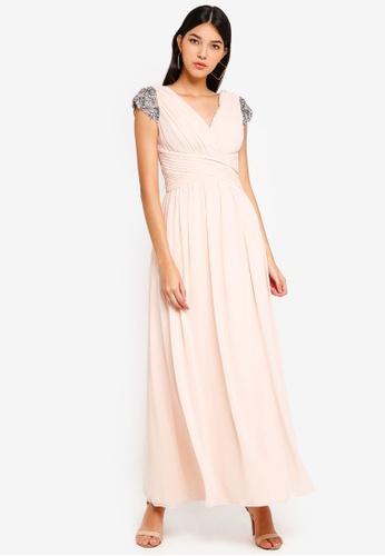 Little Mistress beige Jewel Maxi Dress 1D969AA96E0797GS_1
