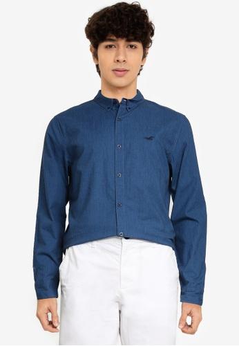 Hollister navy Fit Shirt 52278AA889A9F9GS_1
