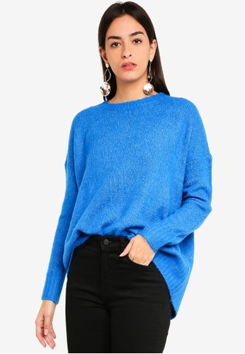 Vero Moda blue Cute Oversized Pullover 873A6AA2D955EDGS_1