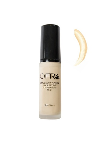 Ofra beige Absolute Cover Silk Peptide Foundation in Shade 0.5 4341ABEB4DA456GS_1