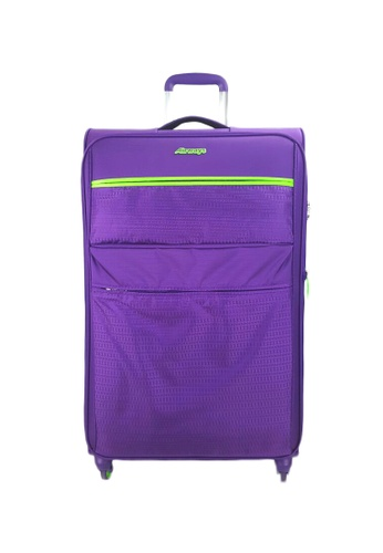 Airways purple Airways ATS5931 20 Inch 4 Wheels Spinner Softcase Luggage (Purple) A7A70ACBEBC318GS_1