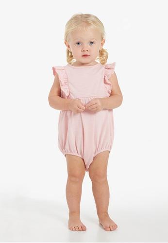 Gen Woo pink Ruffle Baby  Romper 0214CKA8308644GS_1