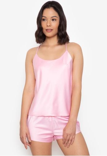 moondaze pink Lauren Satin Top 9AD39AAABF3DC6GS_1