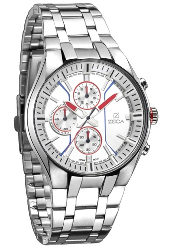 ZECA orange and silver Zeca Watches Men Fashion Stainless Steel Analog - 234M Silver 8F5D2AC98EBCE8GS_1