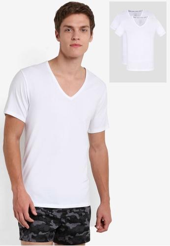 Calvin Klein white V-Neck Tee 2 Pack - Calvin Klein Underwear CA221US09DEOMY_1