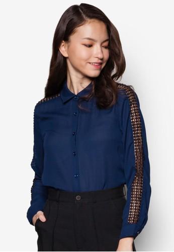 Jeannie 蕾絲拼接長袖上衣, 服飾,zalora taiwan 時尚購物網鞋子 上衣
