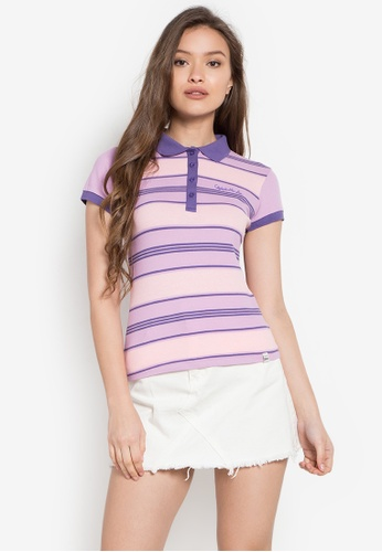Stylistic Mr. Lee multi Striped Classic Textured Polo Shirt MR206AA0KEUKPH_1