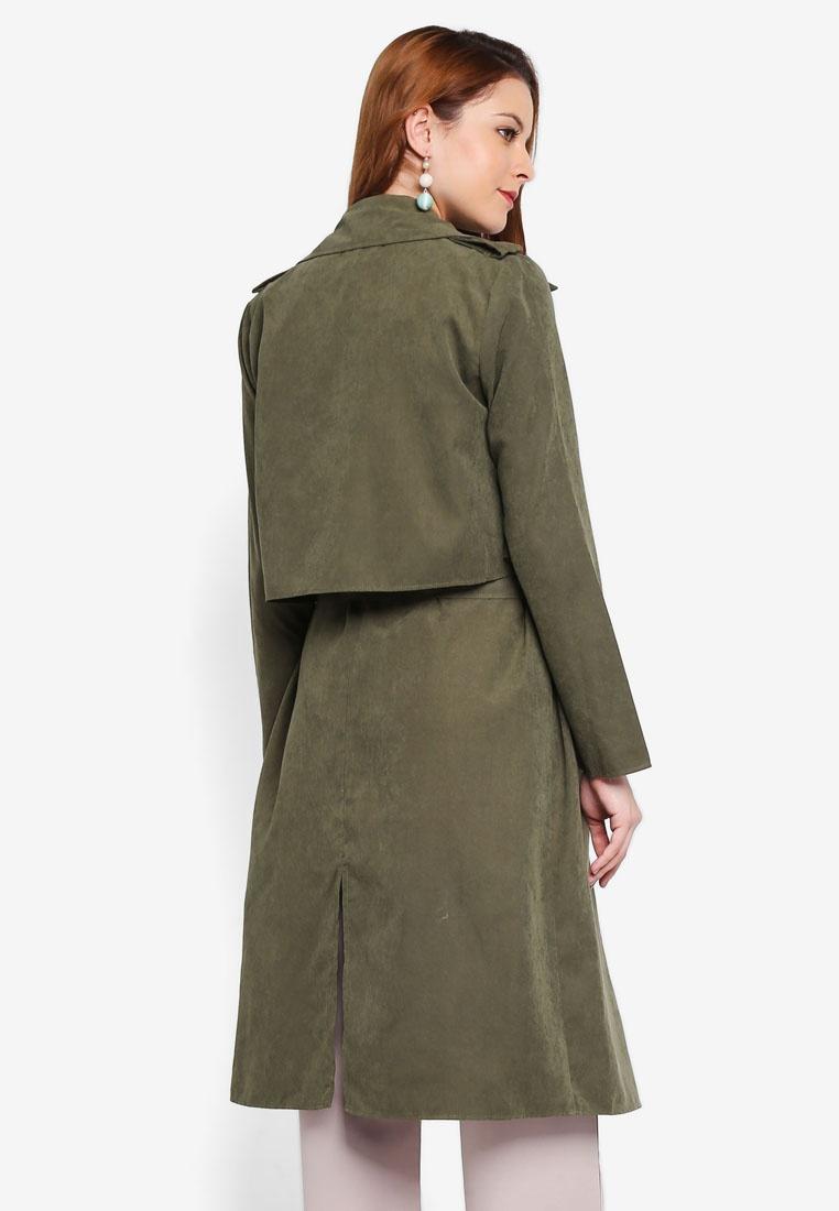 Boyfriend Trench Lubna Army Coat Green dvxqw4