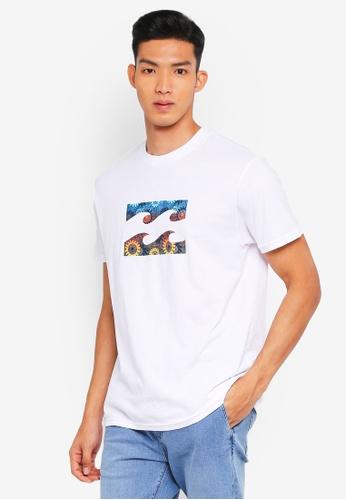 Billabong 白色 休閒品牌印花T恤 1259FAA6BA12CFGS_1